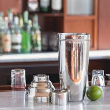 giant cocktail behind the bar giant 3 piece stainless steel cocktail shaker 60 oz