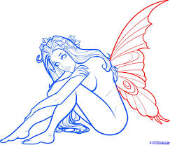 fairy sketch step by step draw an evil fairy stepstep drawing
