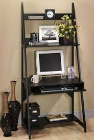 Small Laptop And Printer Desk Ladder Computer Desk For The Office Computer Room Pinterest