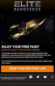 rose gold corvette gold paint jobs anyone else got this in their email elitedangerous
