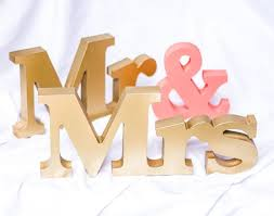 Mr And Mrs Sign For Wedding Wedding Signs Mr And Mrs Signs Mr And Mrs Letters For Sweetheart