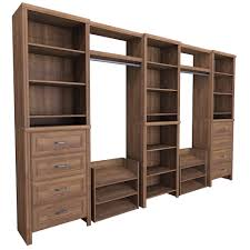 Wood Closet Shelving by Walnut Wood Closet Systems Wood Closet Organizers The Home Depot