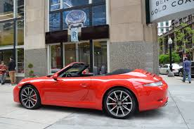 gold porsche convertible 2014 porsche 911 carrera s stock b909a for sale near chicago il