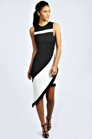 annabelle asymmetric monochrome dress at boohoo com cute