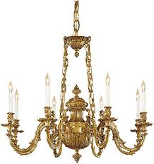 Classic Chandelier Rococo 8 Light Chandelier In Antique Classic Brass House