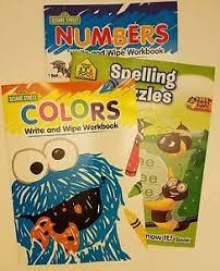 childrens workbooks colors numbers letters kindergarten 1st