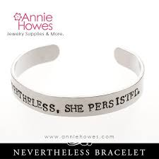 hand bracelet jewelry images Nevertheless she persisted hand stamped cuff bracelet jewelry jpg