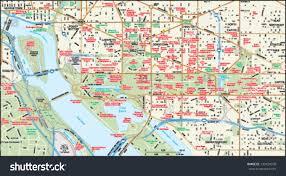Map Of Downtown Washington Dc by Washington Dc Downtown Map Stock Vector 139439378 Shutterstock