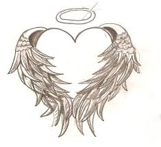 coloring pages hearts wings clipart library clip art
