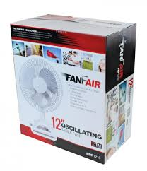 12 inch 3 speed oscillating fan fanfair 12 inch 3 speed oscillating table fan