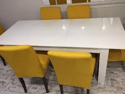 High Gloss Extending Dining Table White High Gloss Extending Dining Table In Aberdare Rhondda