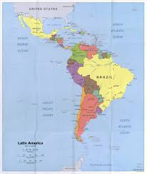 Latin America Map Countries by Large Scale Political Map Of Latin America With Capitals And Major