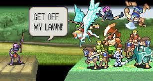 Get Off My Lawn Meme - get off my lawn fire emblem know your meme