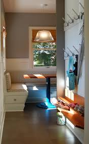 entryway shoe bench entry transitional with apron sink banquette
