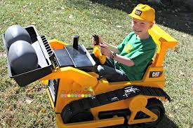 kid trax ride on bulldozer ourkidsmom
