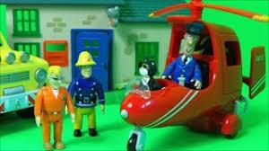 fireman sam tom thomas flys postman pats helicopter jess