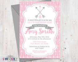 s shower invitations arrow baby shower invitations pink and gray baby shower