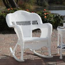 White Patio Rocking Chair by White Wicker Furniture White Wicker Chair Isolated On White
