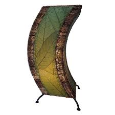 chocolate c shaped nightstands with green leaf pattern and black