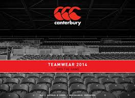 teamwear catalogues canterbury of new zealand