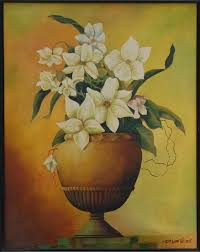 flower vase 19 5 x 23 vertical fl oil painting framed