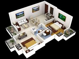 classy design 2 modern house plans in 3d floor plan design