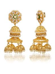jhumki earring buy multilayer jhumki earrings by blissful at jivaana