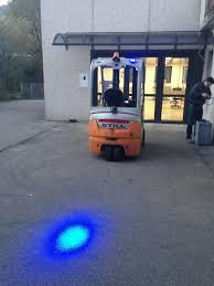 blue warning lights on forklifts 6w 110v led blue light forklift safety light tpbl6w toptree