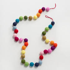 multicolor felt garland world market
