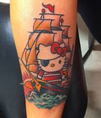 gambar tato kartun di lengan 15 tato hello kitty unyu bikin pemiliknya gagal sangar