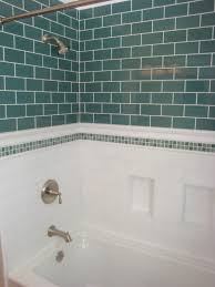 bathroom blue subway bathroom tile and white wall bathroom