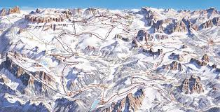 Italy Mountains Map by Dolomites Ski Resorts Italy Dolomites Ski Lifts Terrain Maps