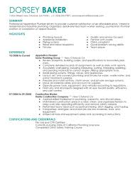 best apprentice plumber resume example livecareer