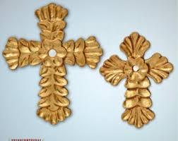 Crosses Home Decor Gold Wall Cross Etsy