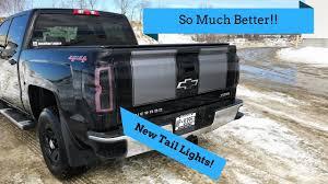 custom truck tail lights 2014 2018 silverado custom tail light install youtube
