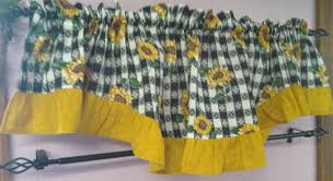 Sunflower Kitchen Curtains Blue Sunflower Kitchen Curtains Decor With For The Home Also