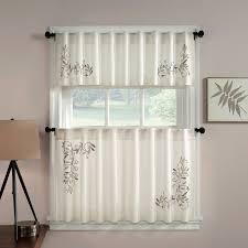 Kitchen Curtain Patterns Stunning Chf Industries Scroll Leaf Tailored Tiered Kitchen