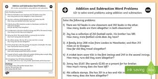 subtraction word problems and subtraction word problems worksheet year 3