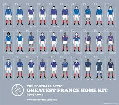 Flag Kits Home The Greatest France Home Kit 1964 2014 The Football Attic
