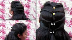most beautiful party hairstyle diwali special hairstyle youtube