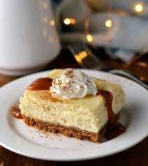 eggnog cheesecake bars with caramel rum sauce friday is cake night