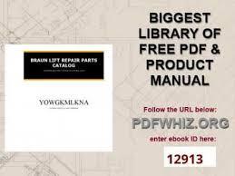 braun lift repair parts catalog youtube