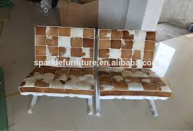 Barcelona Style Sofa Modern Pony Skin Barcelona Style Leather Lounge Chair Leisure
