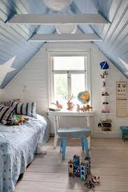 bedroom loft ideas for homes with white attic slanted ceiling