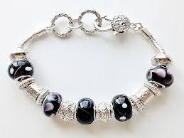 murano glass beads bracelet silver images Pandora inspired black amethyst murano glass bead bracelet vintage jpg