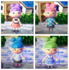 all acnl hairstyles with colours favourite hairstyle and colour