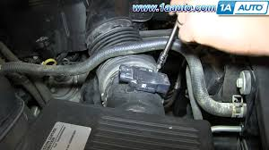 how to install replace mass air flow sensor 2009 13 chevy