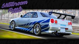 blue nissan skyline fast and furious forza motorsport 6 1999 nissan skyline gt r fast u0026 furious