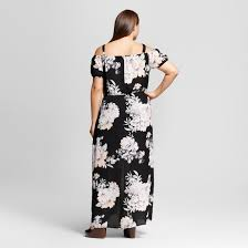 maxi size women s plus size floral maxi dress black juniors