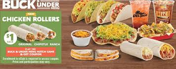 del taco menu items updated secret menus